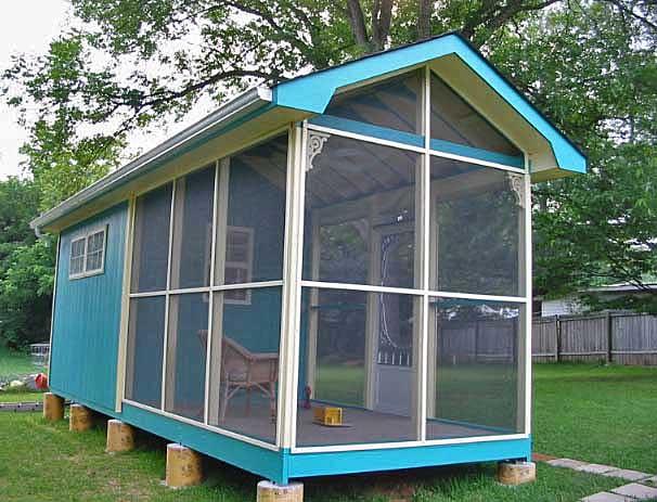Big Bear Constructio Garden Shed Amp Screened Porch